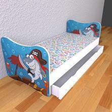 Detská posteľ bez počníc - piráti,