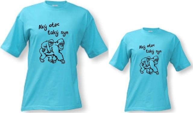 Rodinné tričká - aký otec f9ffe494c6