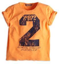 122 neónovo oranžové tričko s číslom 2, lindex,122