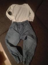 Vyteplene riflove nohavice, h&m,98
