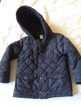 Tmavomodrý kabát/bunda, f&f,116