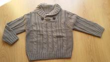 Chlapčenský hnedý svetrík, f&f,92