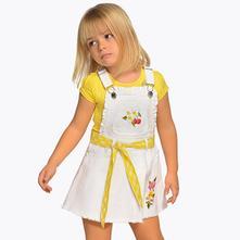 Dievčenská sukňa na traky mayoral 3906-065 white, mayoral,98 / 104 / 122 / 128