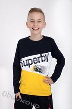 Chlapčenské tričko s dlhým rukávom mm 382 superby, 98 - 152