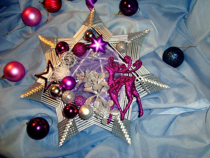 758d6d2e5 Vianočné pletenie z papiera · fotoportrét. misha4311 • Späť na album. Velká  hviezda na dvere