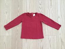 Červené tričko s dlhým rukávom, zara,98