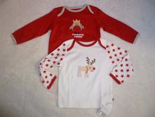 Vianocne tricka, mothercare,68 / 74 / 80