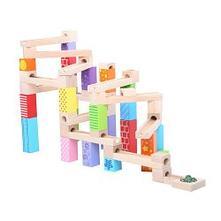 Bigjigs toys drevená guličková dráha,