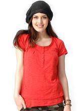 Zora tričko na dojčenie - červené -xl,