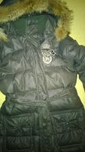 Páperová zimná bunda  s pravou kozusinou 146/152, 146