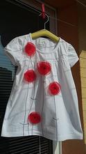 Bavlnený top/tunika/tričko/šatočky s aplikáciou, <50 - 188