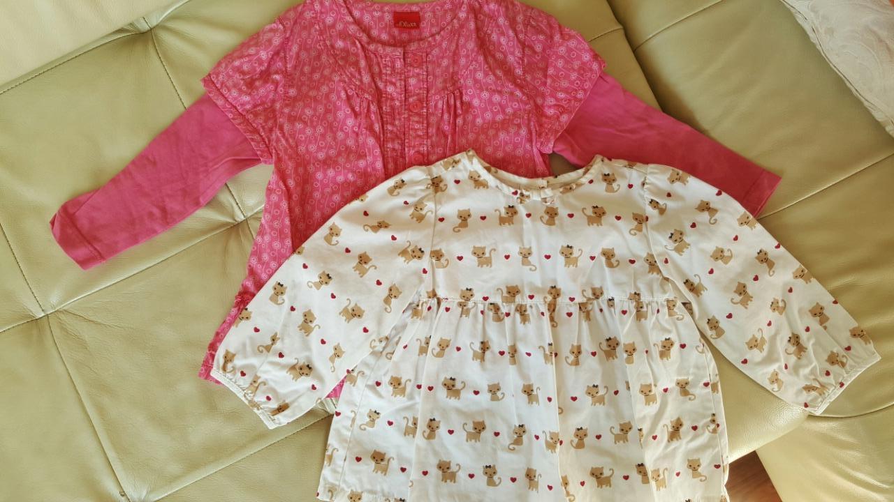 Dve pekné blúzky pre ročné dievčatko, s.oliver,80 - 8 € od predávajúcej  mimamima   Detský bazár   ModryKonik.sk f06fde00a7