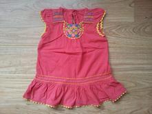 Jahodové šaty s výšivkami, zn. marks&spencer, marks & spencer,104