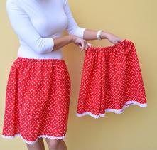 Rôzne folklórne sukne, mama dcéra set, 24 - xxxl