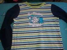 Modrozelené tričko chlapčenské s dlhým rukávom, lupilu,104