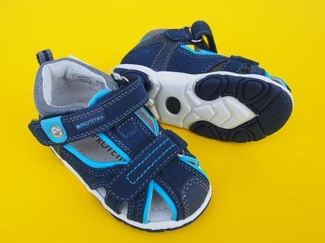 d3705e74199d Kožené sandalky protetika - real blue