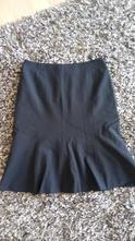 Čierna midi sukňa, s