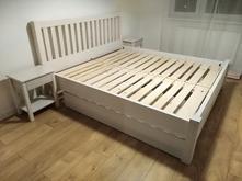 Manželská posteľ, masív buk,
