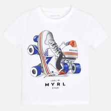 Mayoral chlapčenské tričko 3030-077 white, mayoral,92 - 134