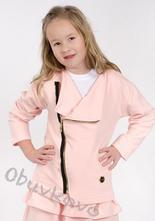Bavlnená dievčenská mikina kabátik mm 926 pink, 86 - 122
