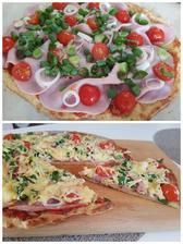 Pizza z tvarohu a vločiek