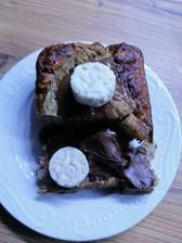🍞🍌 Proteinela, ginger bread maslo a ryžové chlebíčky v bielej coko
