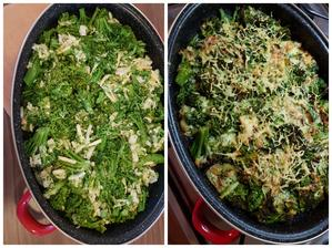 Na obed.Zapekaná brokolica