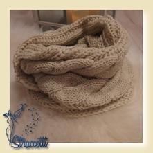 Dámsky pletený nákrčník - béžová, 34 - xxxl