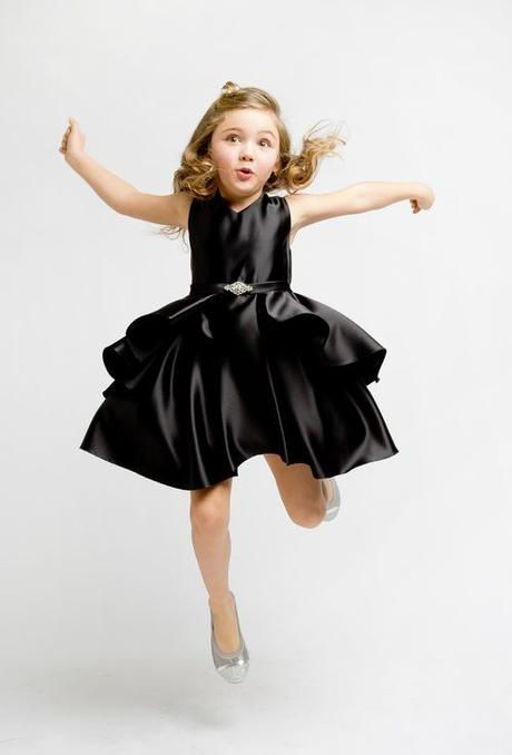 e59af9dfa038 Dievčenské spoločenské šaty sofia čierne