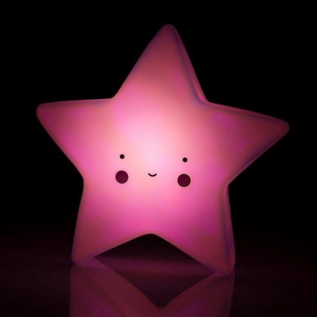 28a28dc22 Trojrozmerná led lampa detská, ružová hviezda, - 8 € od predávajúcej ...