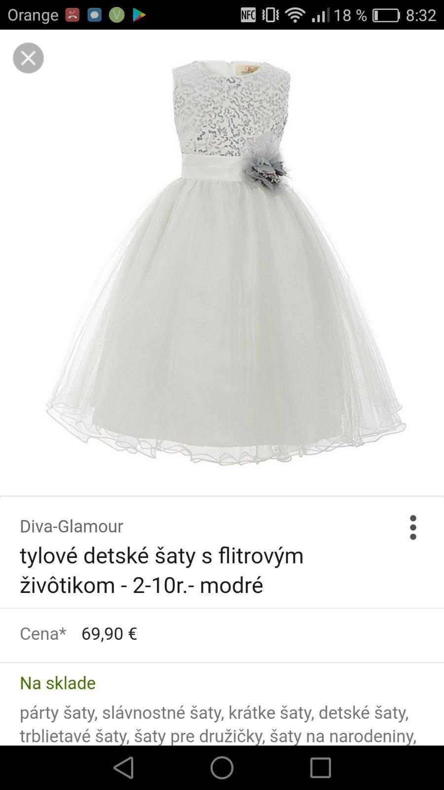 bec19376dcec Súrne zháňam šaty na svadbu - Modrý koník