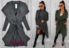 Nádherný dámsky vlnený kabátik - oversize, l / m / s