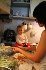 Mamine robím spoločnosť pri varení...