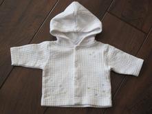 Biela bundička s kapucňou  0-3 mes. , baby,56