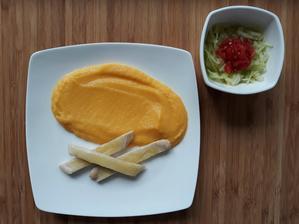 Kuracie s mozzarellou a tekvicové pyré